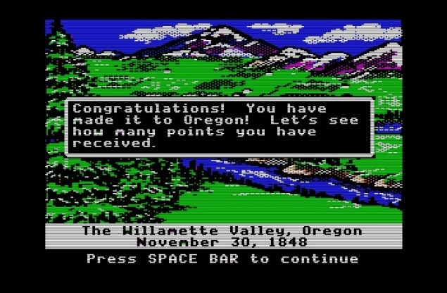 Oregon Trail Finish