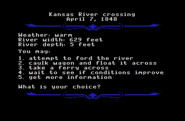 The Oregon Trail Kansas River crossing